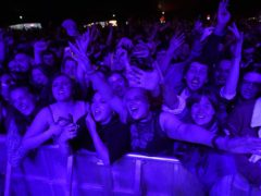 Crowds at a music festival as part of the national Events Research Programme (Danny Lawson/PA)