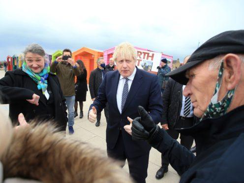 Prime Minister Boris Johnson visits Hartlepool (Lindsey Parnaby/PA)