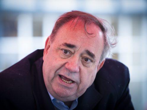 Alex Salmond said 'online warriors' are a problem in politics (Jane Barlow/PA)