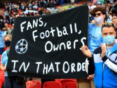 Fans were unhappy with European Super League proposals (Adam Davy/PA)