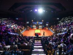 Crowds returned to the Crucible for this year's World Championship final (Zac Goodwin/PA)