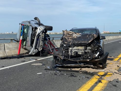The scene of the car accident in Ocean City (Ocean City Fire Department via AP)