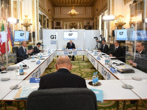 Foreign ministers have met for the first time in more than two years amid tight coronavirus restrictions (Stefan Rousseau/PA)