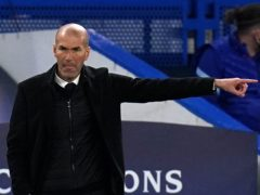 Zinedine Zidane shifts his focus from Champions League elimination to the battle for LaLiga (Adam Davy/PA)
