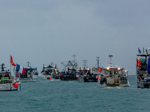 French fishing vessels outside the harbour at St Helier on Thursday (Gary Grimshaw/Bailiwick Express)