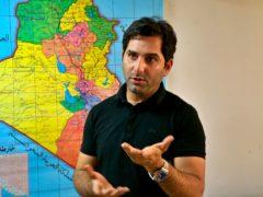 Raslan Haddad, the presenter of the TV prank show (Hadi Mizban/AP)