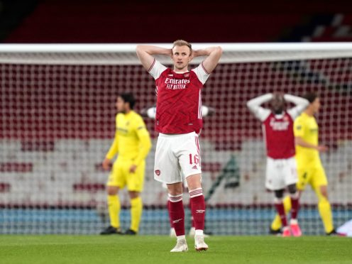 Arsenal were knocked out of the Europa League in the semi-final stage by Villarreal (John Walton/PA)