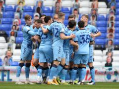 Coventry celebrate against Millwall (Barrington Coombs/PA)