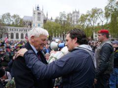 Former veterans minister Johnny Mercer led a march in support of veterans in London (Steve Parsons/PA)
