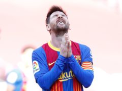 Lionel Messi had one of Barcelona's best chances on a frustrating afternoon (Joan Monfort/AP)