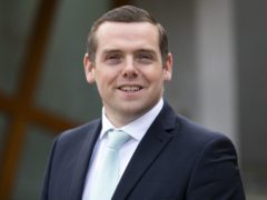 Douglas Ross said his party will attempt to break the 'yellow wall' in Scotland's central belt (Jane Barlow/PA)