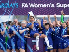 Chelsea beat Reading 5-0 to secure the WSL title on Sunday (John Walton/PA)