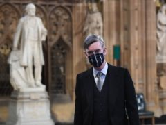 Jacob Rees-Mogg highlighted a ban on MPs wearing overcoats and hats during Commons divisions as he defended the Government's plan for voter ID at elections (Stefan Rousseau/PA)