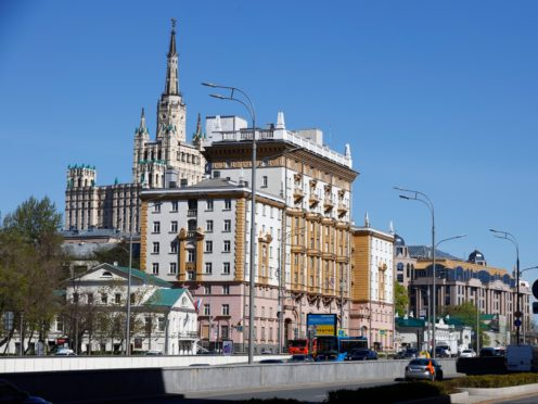The US Embassy in Moscow (AP)