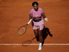 Serena Williams was beaten at the Italian Open (Alessandra Tarantino/AP)