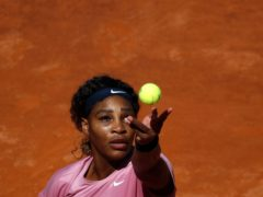Serena Williams played her 1,000th match in Rome on Wednesday (Alessandra Tarantino/AP)