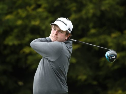 Scotland's Robert MacIntyre carded a second round of 66 to share the halfway lead in the Betfred British Masters (Tim Goode/PA)