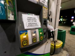 A fuel pump out of service in the US (AP)