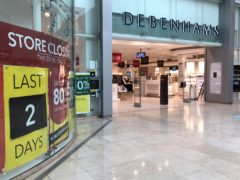 Debenhams is to shut its doors for the final time in its 243-year history (Andrew Matthews/PA)