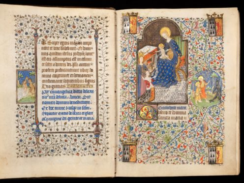 A page from the Book of Hours (Katie Young/Fitzwilliam Museum/PA)