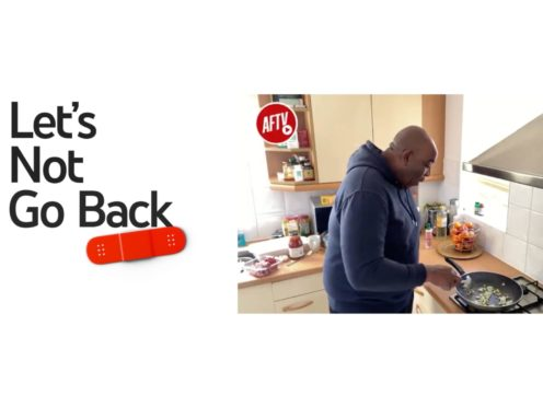 Robbie Lyle from AFTV as part of the Let's Not Go Back campaign (YouTube)