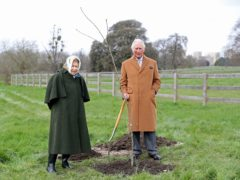 Queen Elizabeth II and the Prince of Wales planting the first Jubilee tree to mark the Queen's platinum jubilee in the grounds of Windsor Castle, Berkshire, earlier this year (Chris Jackson/PA)