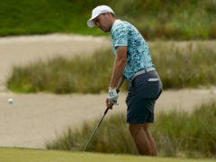 Jordan Spieth during his practice round on the Ocean Course at Kiawah Island (Matt York/AP).