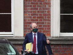 Taoiseach Micheal Martin leaving Dublin Castle following a Cabinet meeting (Brian Lawless/PA)
