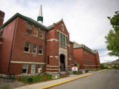 The former Kamloops Indian Residential School in British Columbia (Andrew Snucins/The Canadian Press via AP)
