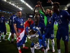 N'Golo Kante celebrates Chelsea's Champions League triumph in Porto (Nick Potts/PA)