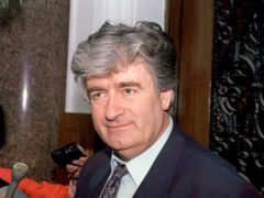 Radovan Karadzic will serve the rest of his prison sentence in Britain (PA)