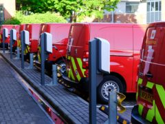 Bristol Central Delivery Office has been the first in the UK to upgrade its entire fleet of vans to fully electric. (Royal Mail/PA)