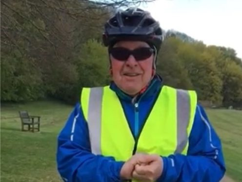 Frank McEwan has been diagnosed with terminal cancer but still rides his bike aged 74 (Courtesy of Frank McEwan)