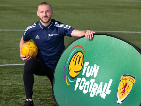 Allan Campbell helped relaunch McDonald's Fun Football programme in Glasgow (PA/handout)