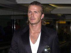 David Beckham on this day in 2003 (Tim Ockenden/PA)