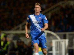 Rhys Oates scored a late winner to secure Hartlepool's place in the National League play-off final (Anna Gowthorpe/PA)