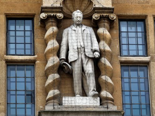The statue of Cecil Rhodes at Oriel College (Steve Parsons/PA)