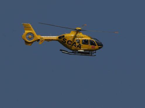 Scotland's air ambulance took a critically injured motorbike rider to hospital following a crash (Jane BArlow/PA)