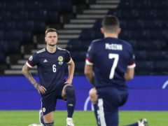 Scotland will take the knee again at Wembley (Andrew Milligan/PA)