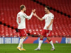 Denmark's Thomas Delaney (right) has revealed Christian Eriksen's plight has brought the squad closer together (Daniel Leal Olivas/PA)