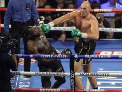 Tyson Fury (right) will look to stop Deontay Wilder once again when they meet in Las Vegas (Bradley Collyer/PA)