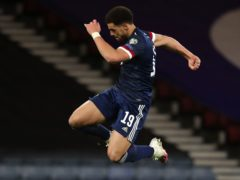 Scotland's Che Adams will hope to be celebrating against Croatia (Andrew Milligan/PA)