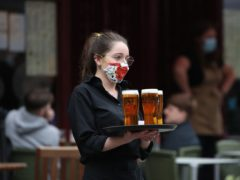 Pub staff returned to work in April as restrictions eased (Andrew Milligan/PA)
