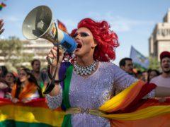 The annual Pride parade in Jerusalem (Ariel Schalit/AP)