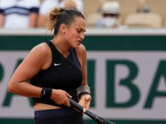 Aryna Sabalenka shows her frustration during her defeat by Anastasia Pavlyuchenkova (Michel Euler/AP)