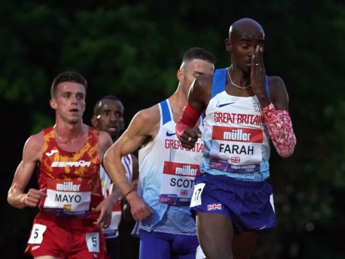 Great Britain's Sir Mo Farah is aiming to qualify for the Olympics. (Martin Rickett/PA)