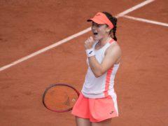 Tamara Zidansek is through to her first grand slam semi-final (Christophe Ena/AP)