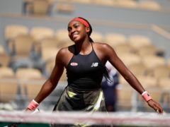 Coco Gauff was all smiles after her victory over Ons Jabeur (Michel Euler/AP)