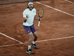Stefanos Tsitsipas kept his composure to see off Daniil Medvedev at the French Open (Thibault Camus/AP)