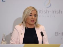 Deputy First Minister Michelle O'Neill during a press conference after the British Irish Council summit in Lough Erne Resort in Enniskillen, Co Fermanagh. Picture date: Friday June 11, 2021.